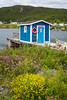 Colorful fish stages at the fishing village of New Perlican, Newfoundland and Labrador, Canada.