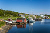 The small fishing village at Scag Harbour, Newfoundland and Labrador, Canada.