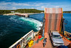 The Fogo Island ferry at Scag Harbour, Newfoundland and Labrador, Canada.