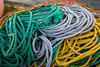Closeup of fishing gear and rope at King cove, Newfoundland and Labrador, Canada.
