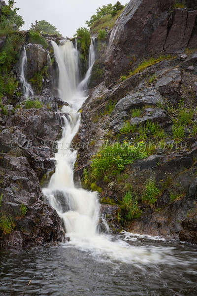 A small waterfall at Portugal Cove, Newfoundland and Labrador, Canada.