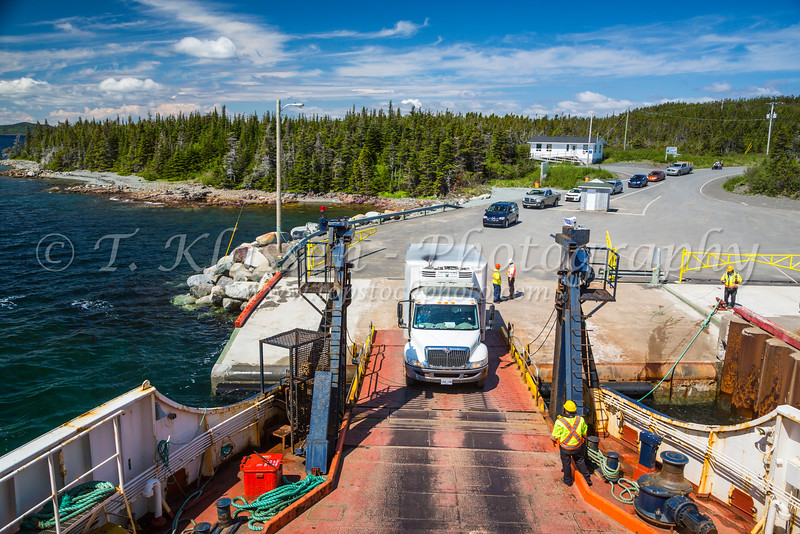Loading the Fogo Island ferry at Scag Harbour, Newfoundland and Labrador, Canada.