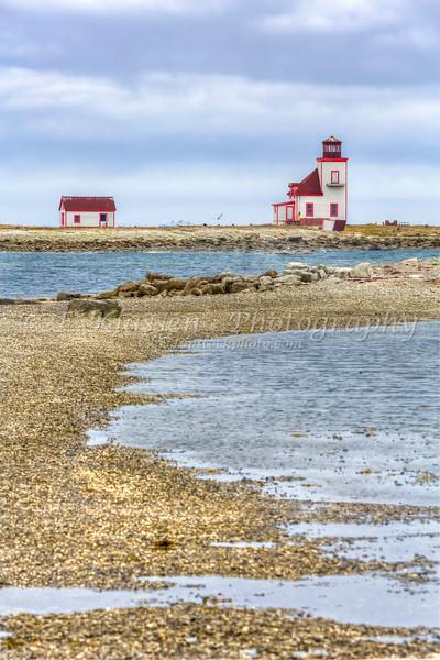 The Flower Cove Island lighthouse, Newfoundland and Labrador.