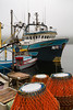 Fishing boats and fishing gear at Cape Broyle, Newfoundland and Labrador.
