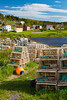 Lobster traps at King Cove, Newfoundland and Labrador, Canada.