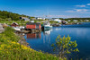 A picturesque fishing village near Scag Harbour, Fogo Island, Newfoundland and Labrador, Canada.
