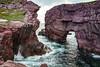 The Sea Arches near Tickle Cove, Newfounland and Labrador, Canada.