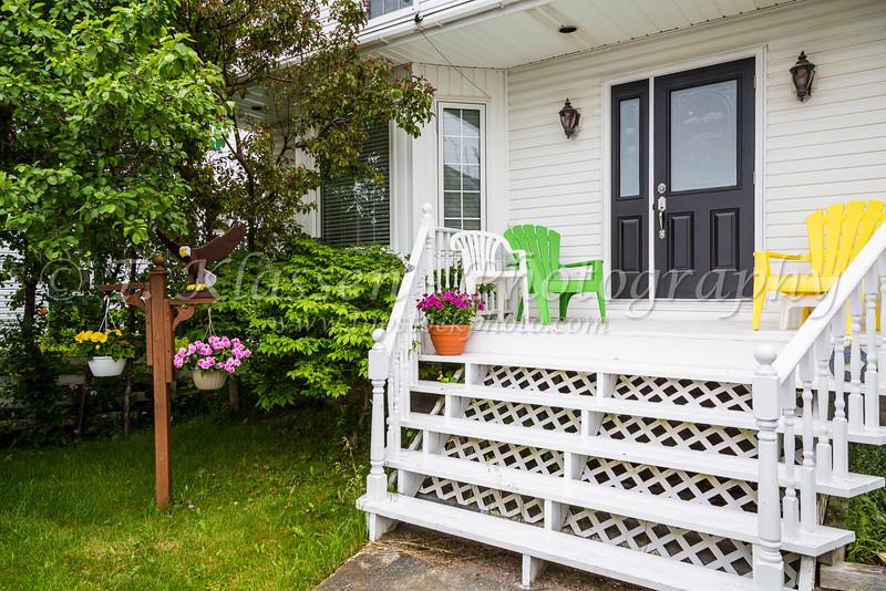 The front entrance of a home in Port de Grave, Newfoundland and Labrador, Canada.