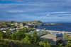 The village and coastline at Port de Grave, Newfoundland and Labrador, Canada.