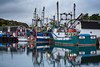 Fishing boats in the harbour at Port de Grave, Newfoundland and Labrador, Canada.