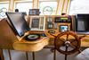 Interior bridge of a fishing vessel at Port de Grave, Newfoundland and Labrador, Canada.