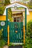A garden gate at the fishing village of Quidi Vidi near St. John's, Newfoundland and Labrador, Canada.