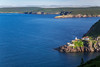 The rugged coastline and Fort Amherst from  signal Hill near St. John's, Newfoundland and Labrador, Canada.