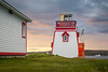 The lighthouse at Fisherman's Point in St. Anthony, Newfoundland and Labrador, Canada.