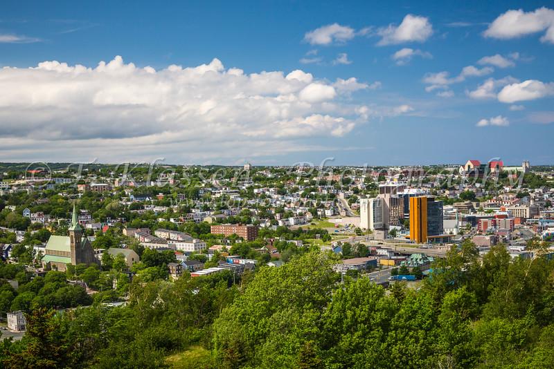 The skline of St. John's Newfoundland and Labrador, Canada.