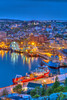The city skyline and harbour  at dusk in St. John's Newfoundland and Labrador, Canada.