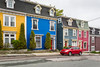 Colorful Jellybean houses in St. John's Newfoundland and Labrador, Canada.
