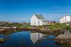 Salt box homes  at the fishing village of Tilting, Fogo Island, Newfoundland and Labrador, Canada.