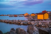 Fishing stages and homes in Tilting, Fogo Island, Newfoundland and Labrador, Canada.