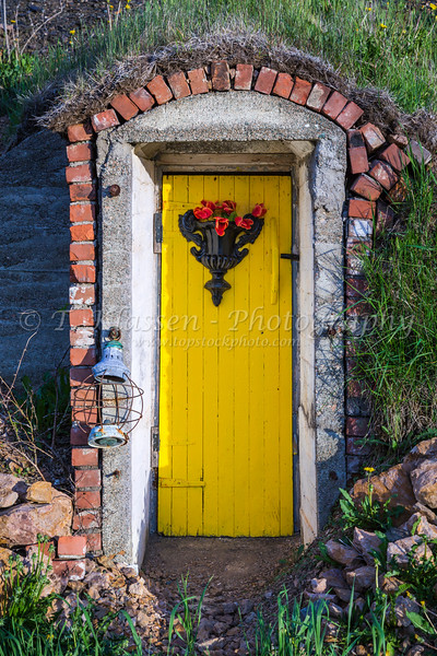 A root cellar door in Twillingate, Newfoundland and Labrador, Canada.