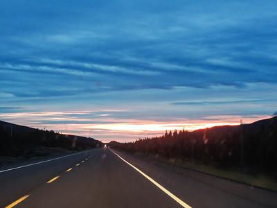 Sunset near Birchy Narrows