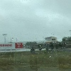 When we passed by the Riverside International Speedway it was raining. I've never been to this track.