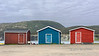 Colourful fishing shed, Trout River, Newfoundland