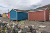 Colourful fishing shacks, Trout River, Newfoundland