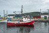 Fishing seiner docking in Trout River, Newfoundland