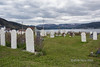 St Barnabas Anglican Cemetery overlooking Bonne Bay and the Tablelands, Norris Point Newfoundland