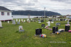 St Barnabas Anglican Cemetery with Bonne Bay and the Tablelands, Norris Point, Newfoundland