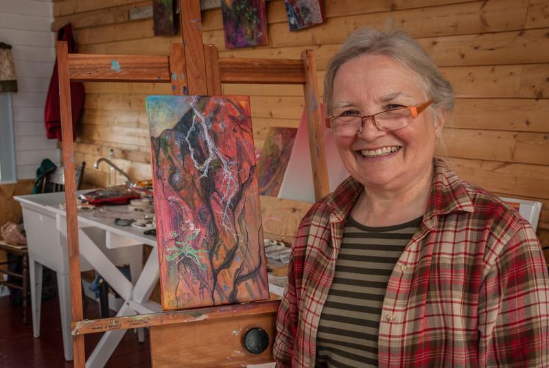 Jean E. Sonmor, 2012 Artist-in-Residence in Tilting, Newfoundland.