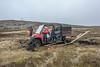 Peat bog versus the ATV, Quirpon Island, Newfoundland