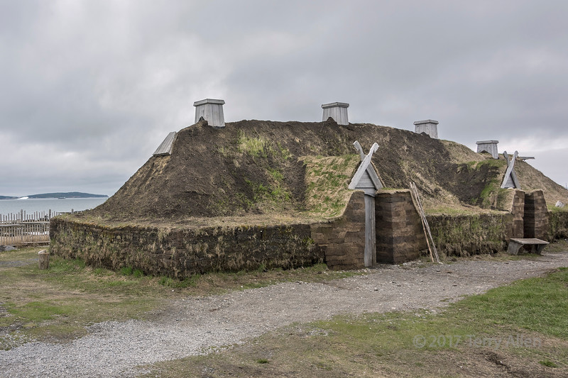 Reconstructed sod building F, L'Anse aux Meadows, Newfoundland