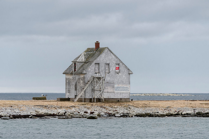 Radio beacon operator's house seen to looking South East, Flower's Island, Nameless Cove, Newfoundland