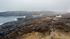 Stormy day at Lighthouse Cove, with small keeper's cottage, Cape Bauld, Quirpon Island, Newfoundland