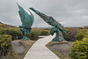 'Meeting of two worlds sculpture' Luben Boykov and Richard Brixel, L'Anse aux Meadows, Newfoundland