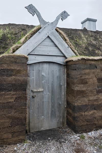 Detail of sod building F, L'Anse aux Meadows, Newfoundland