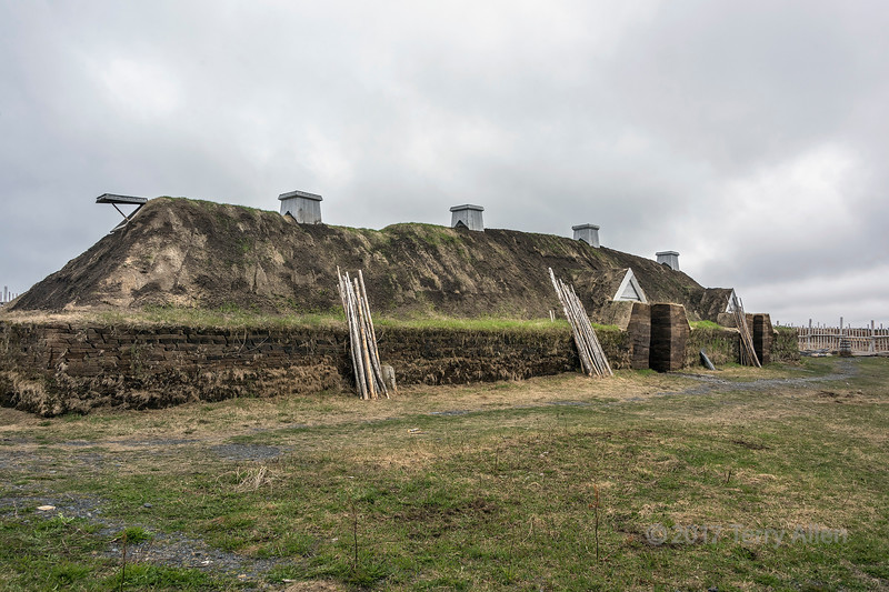 Viking sod building (Building F), L'anse aux Meadows, Newfoundland
