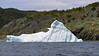 Iceberg grounded near shore in Cockold Cove, Bonavista Peninsula, Newfoundland