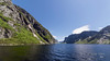 Looking down the fjord at Western Brook Falls, Gros Morne National Park, Newfoundland