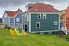 Salt box houses in old Trinity, Newfoundland