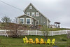 Burry saltbox house, Trinity, Newfoundland