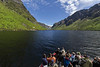 Tour boat in Western Brook Pond UNESCO Heritage Site, Grose Morne National Park, Newfoundland