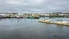 View across Bonavista harbour to Ryan's Premises and Catholic church, Bonavista, Newfoundland