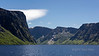 Entrance to Western Brook Pond land-locked fjord, Long Range Mountains, Gros Morne National Park, Newfoundland