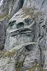 The Tin Man natural rock carving, Western Brook Pond, Gros Morne National Park, Newfoundland