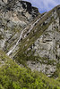 Waterfall from the top of the cliff at Western Brook Pond, Gros Morne National Park, Newfoundland