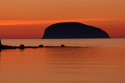 Fox Harbour sunset west of Corner Brook
