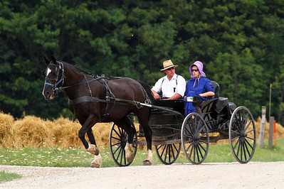 Young Amish couple near Elmira